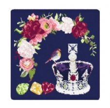 Feiler 'The Royal Crown' washcloth Navy